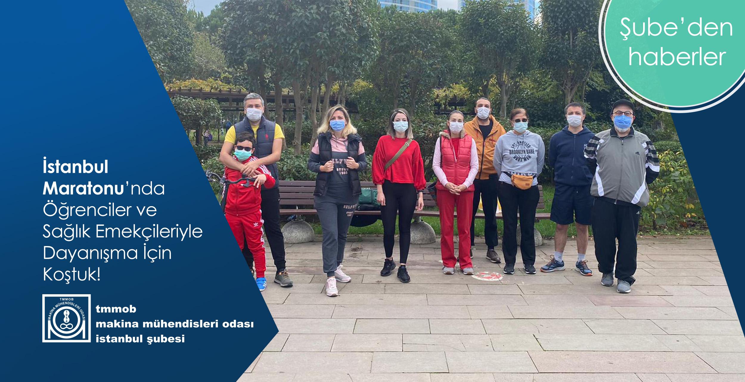 İstanbul Maratonu'nda Öğrenciler ve Sağlık Emekçileriyle Dayanışma İçin Koştuk!