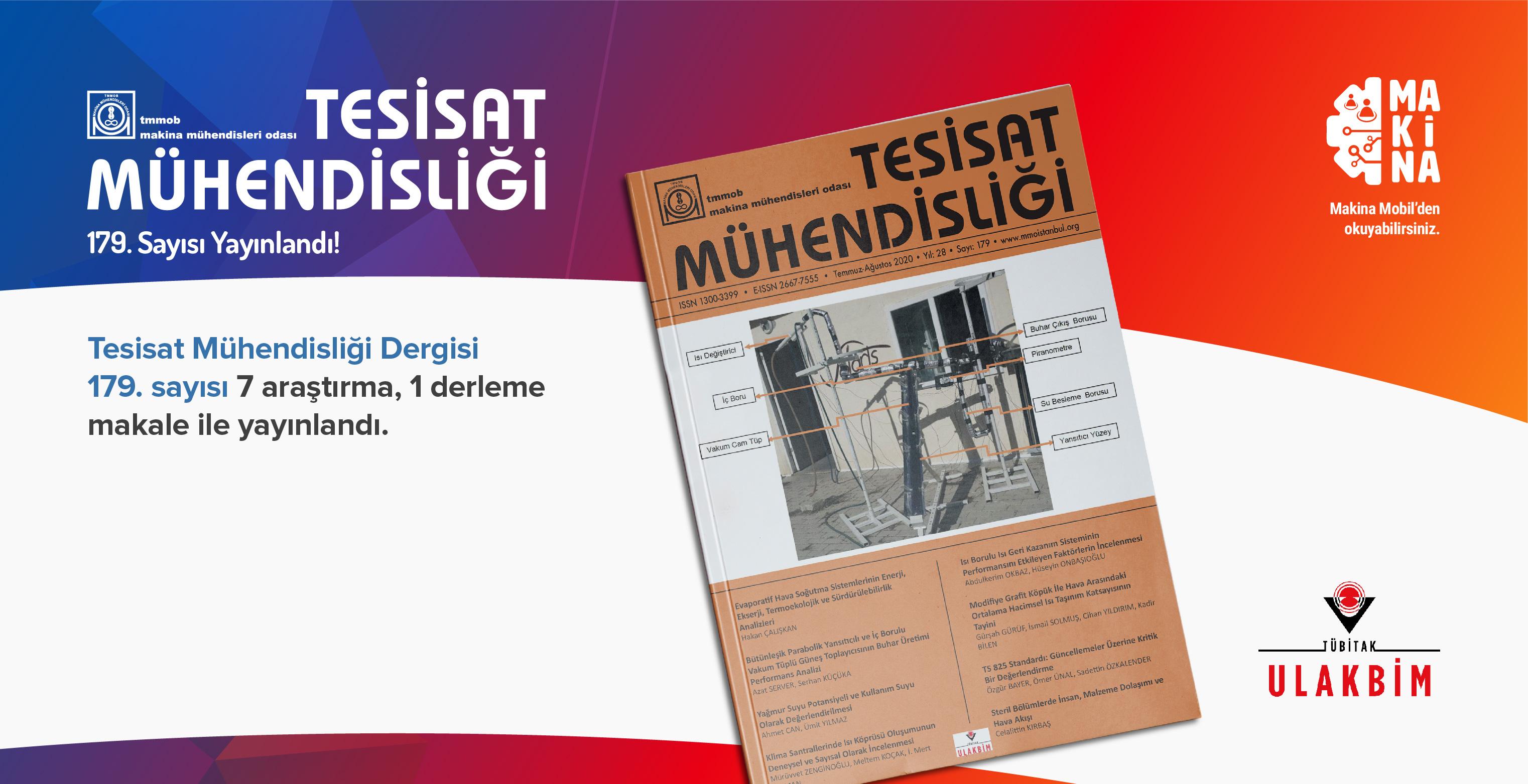 Tesisat Mühendisliği Dergisi 179. Sayısı Yayınlandı!